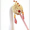 台灣手工柳絲作品、神鳥鳳凰(紅)、客製化全台灣手工創作。