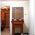 二尺九祖先廳設計(黃金檀騰達如意桌-立體雕刻百壽聯)