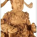 樟木白身收藏作品-特細錦花雕刻-招財文財神