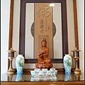 居家佛堂設計作品/禪風如意神桌/金雲佛道禪心雕刻聯/如意蓮花觀音