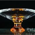 現代水晶佛俱(金黃水晶敬果盤/敬盤,紫水晶小環香爐)