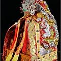 台灣手工神衣作品-紅底銀龍袍