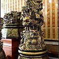 林新發雕刻工藝創作,九龍騰雲淨爐。