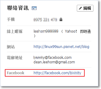 facebook資訊