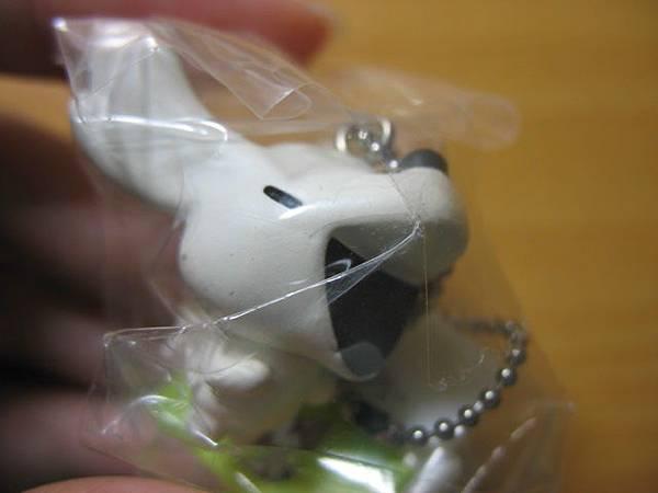 [賣]動物小畫廊迷你吊飾3代_黑白。吠叫的狗