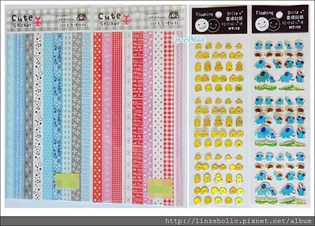 2011.6-7購入文具_裝飾貼紙+迷你動物貼紙