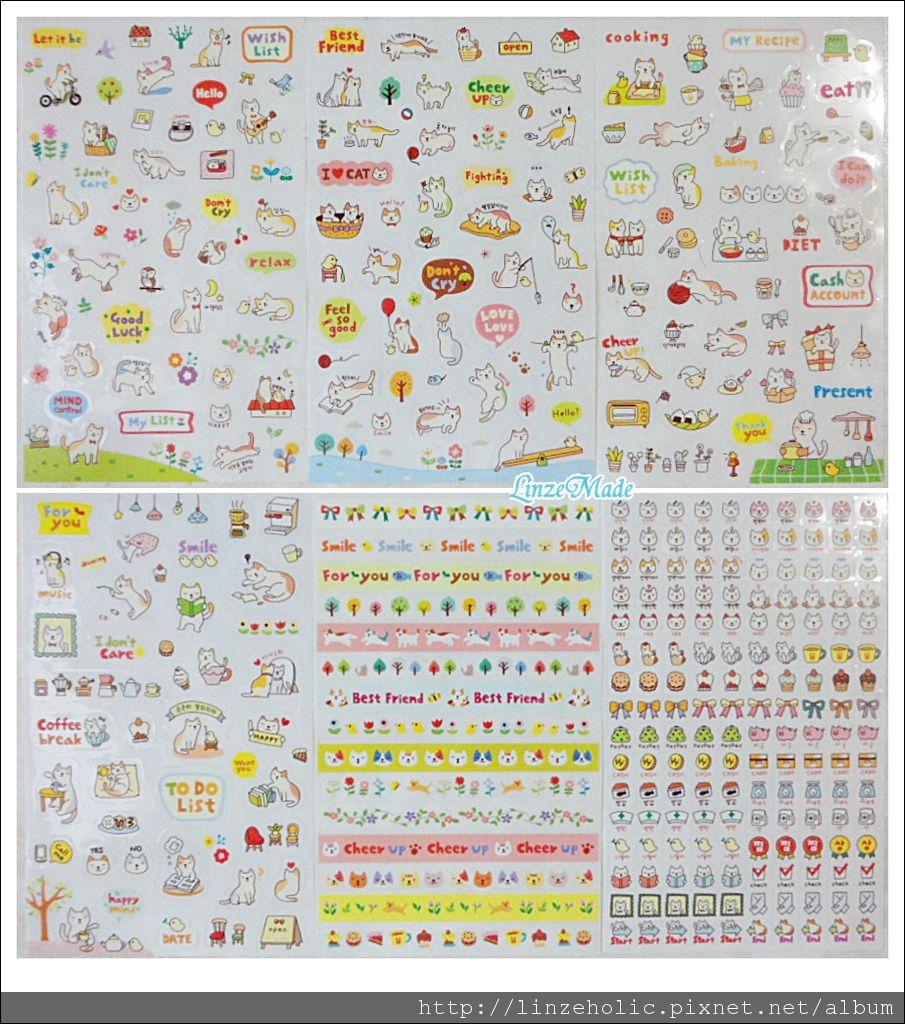 淘寶文具_4月購物_貓咪裝飾貼紙