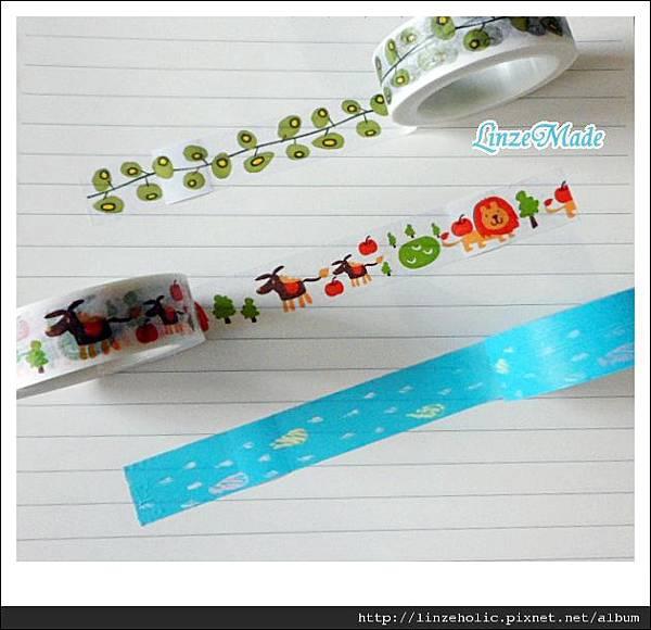 金音Funtape紙膠帶_藤本植物、獅子、雨滴