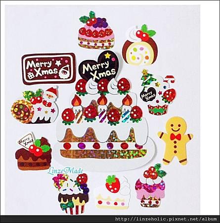 MW聖誕蛋糕貼紙包02