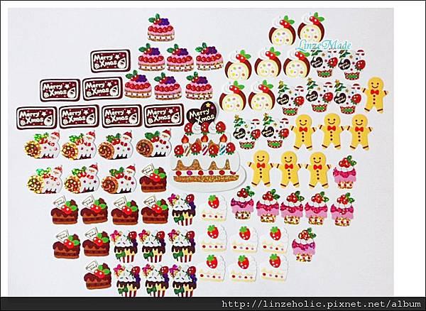 MW聖誕蛋糕貼紙包03