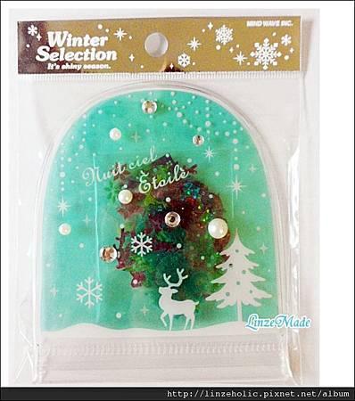 MW聖誕水晶球貼紙包01