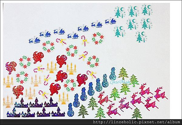 MW聖誕水晶球貼紙包03