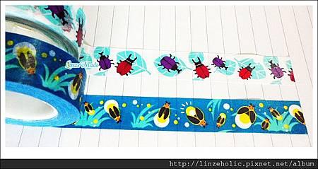 金音2012夏季限定紙膠帶_甲蟲、螢火蟲