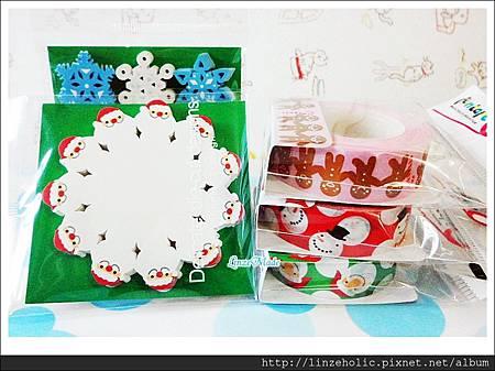 金音2012聖誕款紙膠帶+便利貼