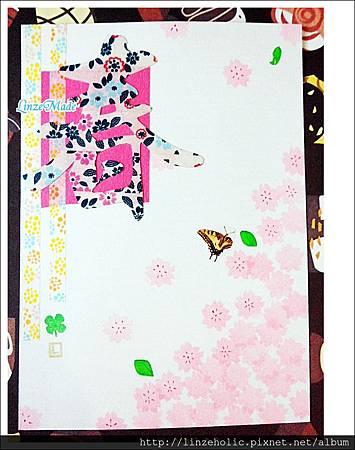 Linze手做櫻花卡片01