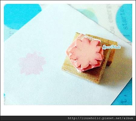 Linze2號手刻章 櫻花