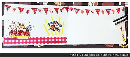Linze手做卡片No.9氣球飄浮熊03