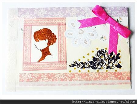 Linze手做卡片No.12_Jane Austen