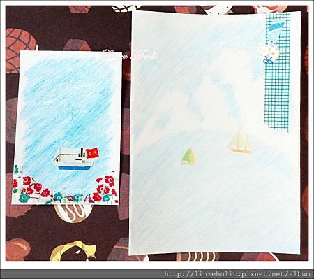 Linze的手做卡片No.14+書籤No.4