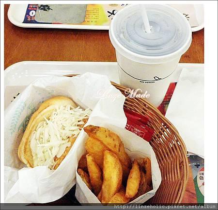 20130915紙膠帶+乙女聚會03_摩斯漢堡 黃金炸蝦堡套餐