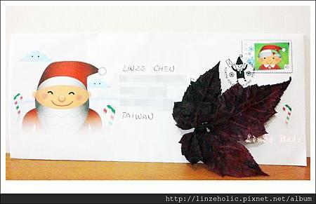 2013聖誕老人的回信_信封+加拿大楓葉