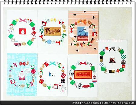 2013手做聖誕花環卡片01