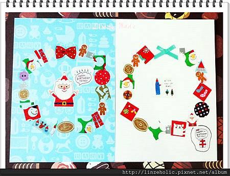 2013手做聖誕花環卡片03
