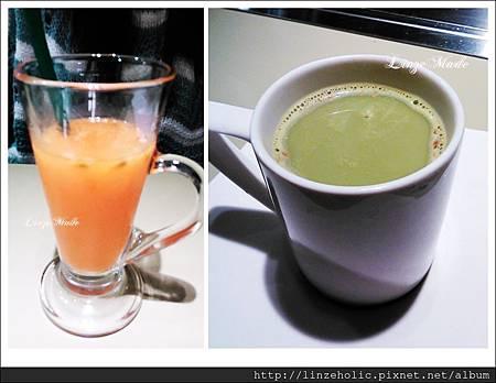 2014.03原燒_蔬果汁、抹茶拿鐵