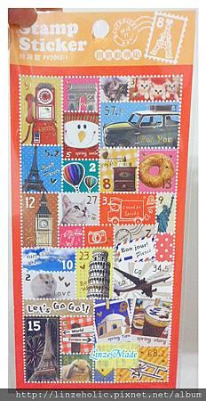 2011.04.06文具_裝飾郵票貼紙