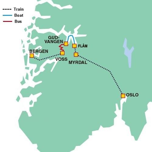 挪威縮影路線圖