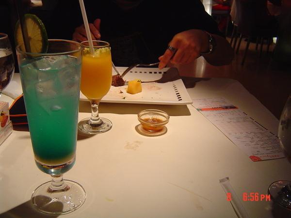 雪沁藍橙+香芒情人果冰沙