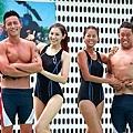 「新兵日記」拍攝泳訓戲。 圖/民視提供