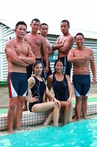 新兵拍攝泳訓課程