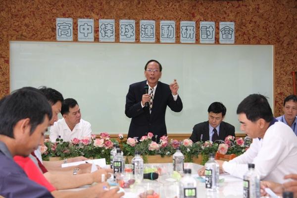 學生棒聯會長廖敏雄勉勵大家共同推動優質棒球
