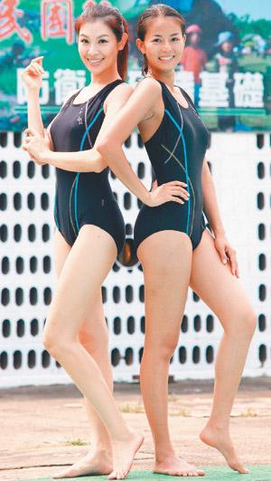 「新兵日記」拍攝泳訓戲。