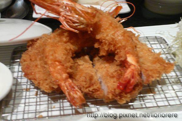 沙朗豬排+炸蝦