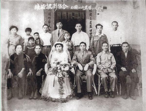竹田張姓家族合照1956
