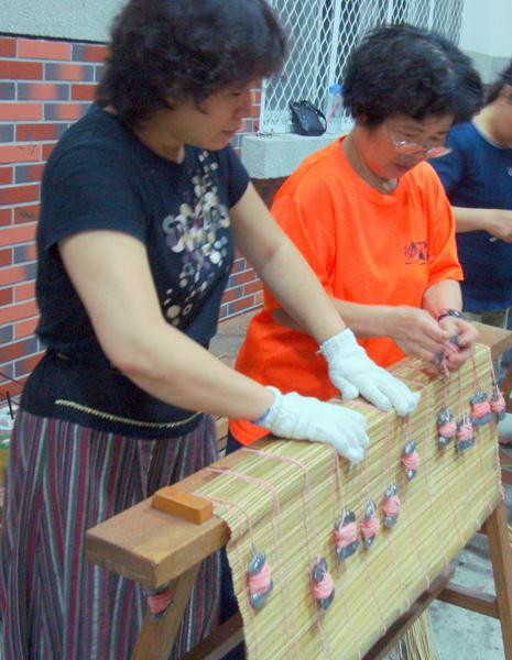 手工製作傳統竹門簾