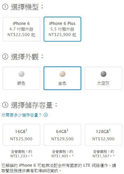iPhone 6 Plus 官方空機價