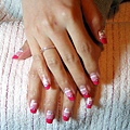 粉紅法式漸層彩繪