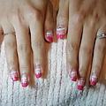粉紅法式漸層彩繪2