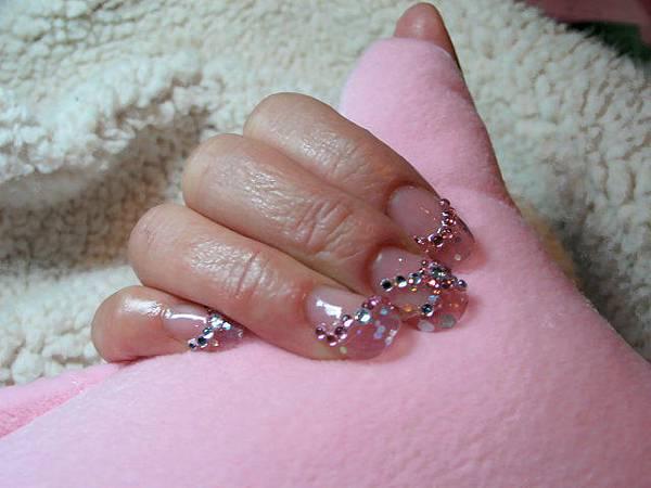 華麗款粉色璀璨水晶