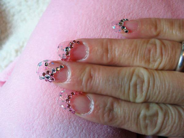 粉色璀璨水晶+水鑽