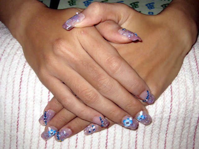 粉藍漸層水晶