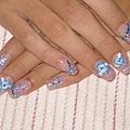 藍色小花粉雕