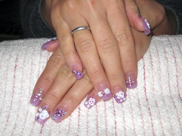 淺紫璀璨水晶+玫瑰