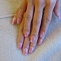 粉色亮片璀璨水晶
