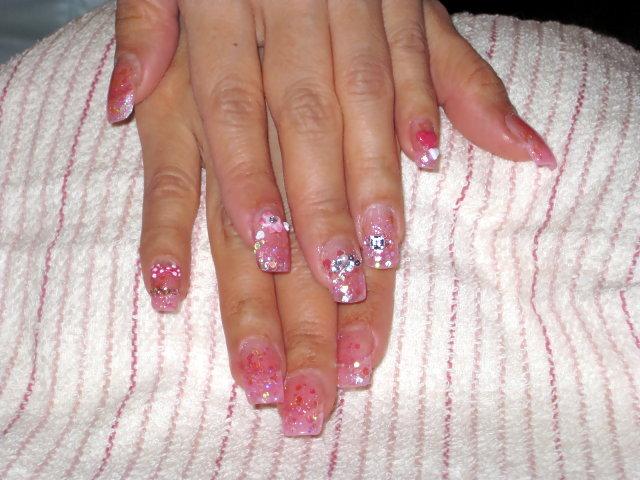 粉色璀璨水晶+粉雕