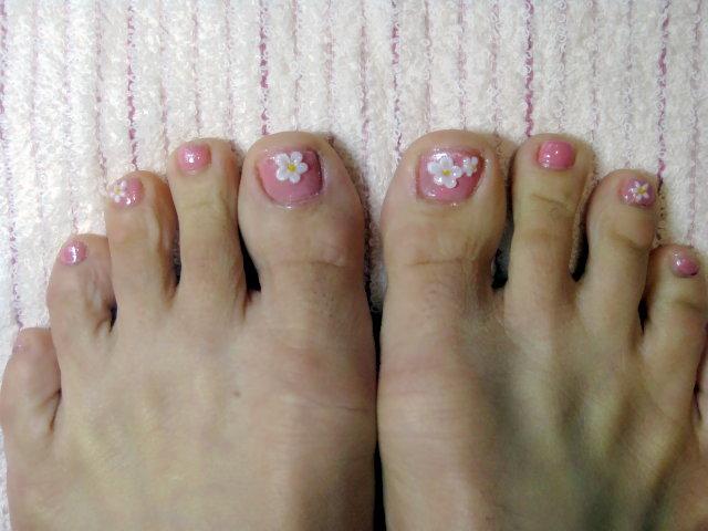 小花腳趾彩繪