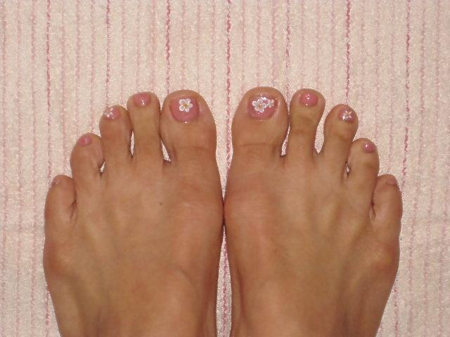 小花腳趾彩繪2